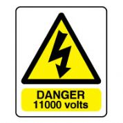 Warn088 - Danger 1100 Volts